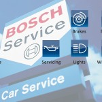 Bosch servicing including MOT's, air conditioning, brakes, batteries, diagnostics, exhausts, inspections, servicing, lights, windscreens and tyres